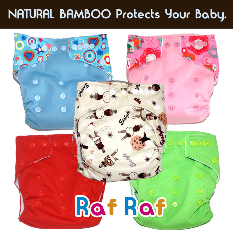 5 Diapers + 5 Inserts
