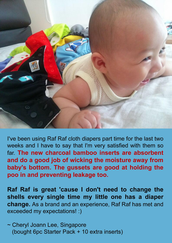 raf raf cloth diaper testimonial review