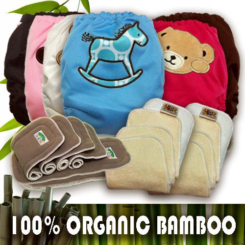 Raf Raf Organic Bamboo Cloth Diapers Value Pack